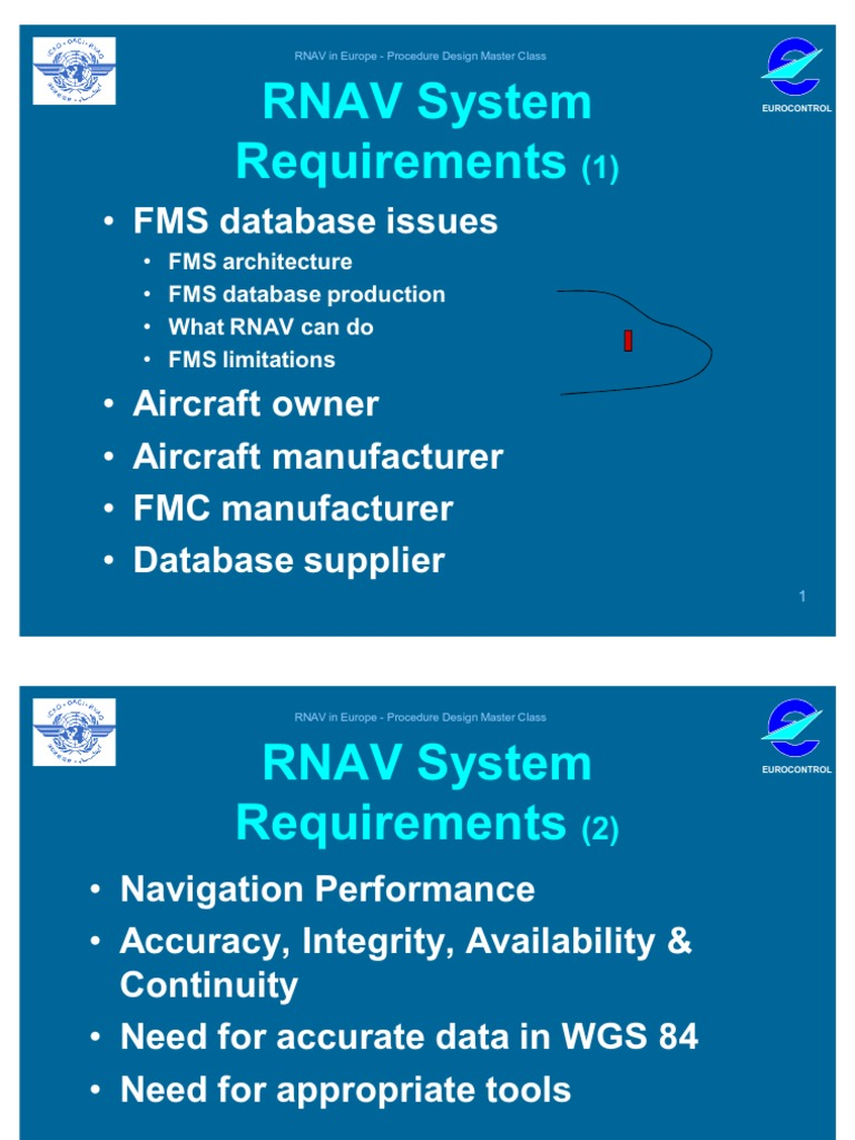 RNAV System Requirements for airplanes | Aerospace | Aviation