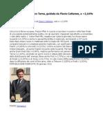 Sui Bancari, rimbalzo di Terna, AD Flavio Cattaneo, a +2,16% in Piazza Affari