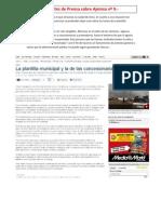 Recorte de Prensa 9 - Protestas en La N - IV