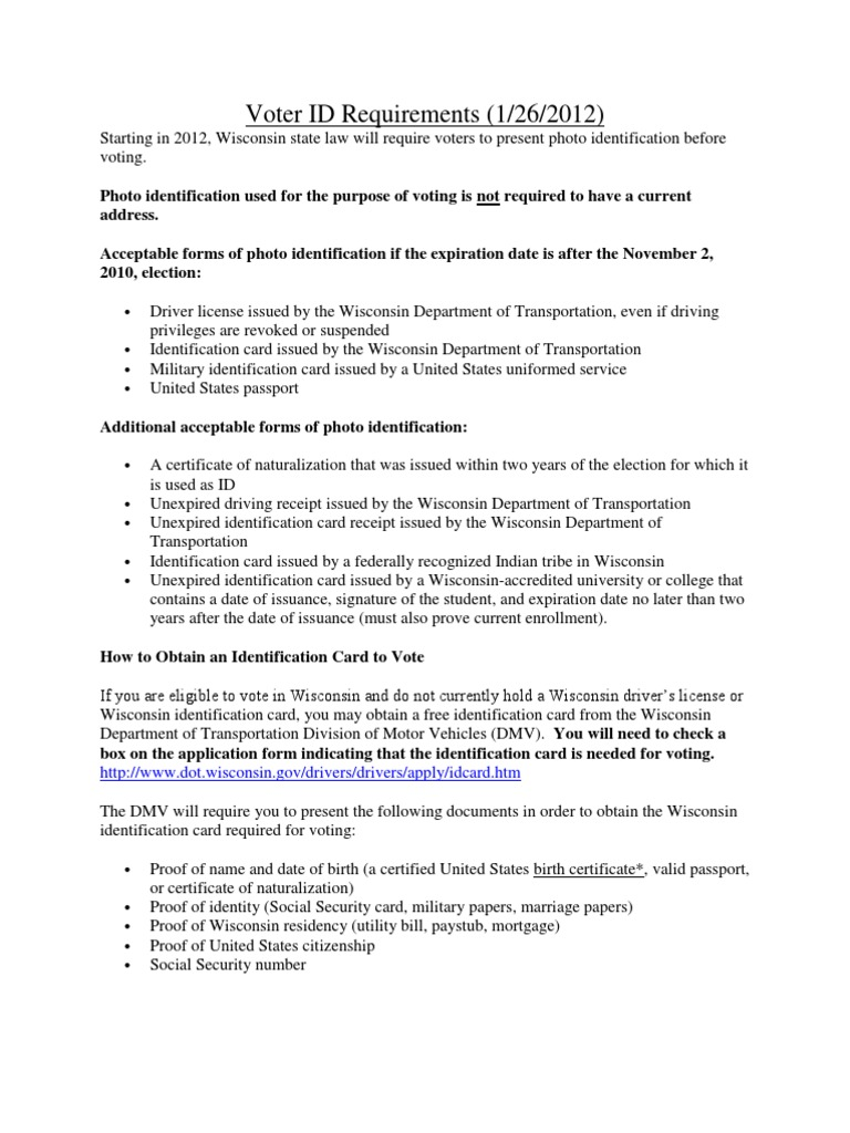 Wisconsin department of motor vehicles forms impremedia village of trempealeau voter id requirements department of motor vehicles identity document aiddatafo Gallery