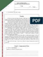 Teste de avaliação diagnóstica 7ano (blog7 10-11)
