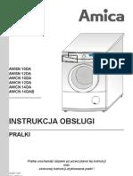 Instrukcja obsługi pralki wolnostojącej AWCN 10DA