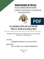 ELABORACIÓN DE LICOR DE FRUTA POR MACERACIÓN