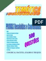 500 Questoes  Matemática para Concursos - parte1