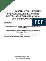 GHIDUL SOLICITANTULUI Op231-Grant-finantare Nerambursabila