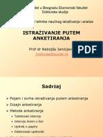 Anketiranje Intervju i Upitnik