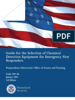 (GSA Chemical Detection Selection Guide) Dhs100-06