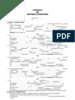 Contractul de Asistenta Financiara