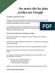 Trouver les mots clés les plus recherchés sur Google