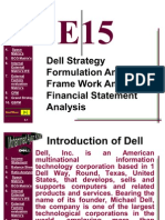 Financial Statement Analysis and Strategic Analysis of Dell
