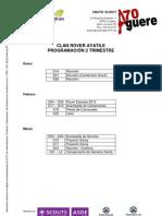 Clan - Planning Del 2er Trimestres 2011 - 2012