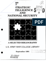 Strategic Intelligence and National Security