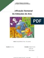PPP planificação semanal educação pré-escolar - As Estações do Ano