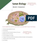 human biology mod 1 assessment