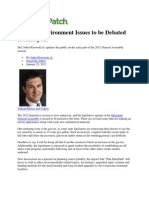 Del. John Olzsewski Jr Letter Opposing Increasing The Gas Tax
