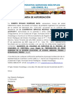 MANIFESTACION DE VOLUNTAD