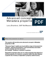 Advanced Concepts in MEtadata Properties in KM