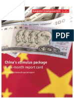 China's stimulus package  A six-month report card