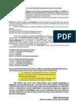 A Lei do Piso e 1/3 de Atividades Extraclasse para os Docentes