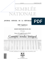 20120119-France-Assemblée nationale-Compte rendu intégral-Proposition de loi relative à l'exploitation numérique des livres indisponibles du XX siècle-Texte