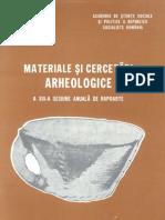 Materiale si cercetari arheologice XIII 1979