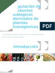 Regulación de productos biológicos derivados de plantas transgénicas h