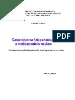 Caracterizarea Fizico-Chimica a Medicamentelor Oculare