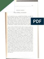Hannah Arendt-Ffranz Kafka, Re Valor Ado