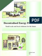 Decentralised Energy Production  2011 EN Ulf-Peter Granö
