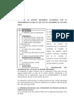 Acta aprobado del pleno ordinario de diciembre 2011