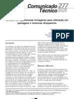 Seleção de leguminosas forrageiras para utilização em pastagens e sistemas silvipastoris
