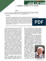 Dinámica evolutiva y significado estadístico de la selección natural