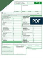 Formulario Declaracion de Renta año 2011 F-110 DIAN 2012