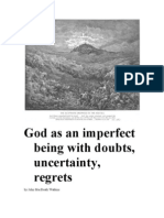 God as an Imperfect Being of Doubts, Uncertainty, Regrets