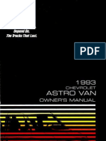 1993 Chevrolet Astro Owners Manual
