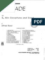 Balada Para Saxo Alto y Banda (Alfred Reed)