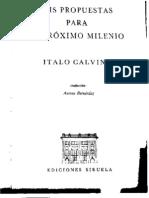 calvino, italo - seis propuestas para el próximo milenio
