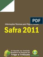 Informacoes Tecnicas Trigo Triticale Safra 2011