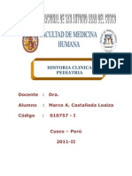 HISTORIA PEDIATRIA