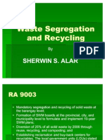 Waste Segregation and Recycling