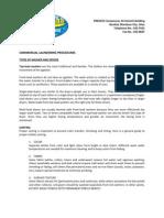 Commercial Laundering Procedures