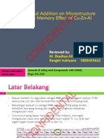 Effect of Gd Addition on Micro Structure and Shape Memory Effect of Cu-Zn-Al Alloyy