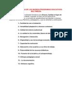 CARACTERÍSTICAS DE LOS BUENOS PROGRAMAS EDUCATIVOS MULTIMEDIA