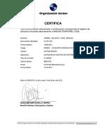 Certificado Laboral - SERDAN