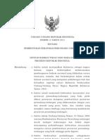 Uu Nomor 12 Tahun 2011 Ttg Pembentukan Peraturan Perundang-undangan