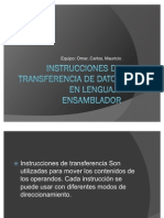 Instrucciones de Transfer en CIA de Datos en Lenguaje Ensamblador