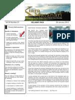 RCBKS Bulletin Vol 20 No 21