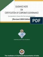 Guidance on Certcorpgove2009