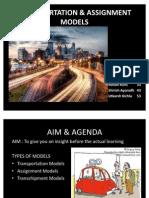 Transportation & Assignment Models