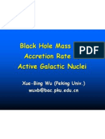 Xue Xue-Bing Wu- Black Hole Mass and Accretion Rate of Active Galactic Nuclei